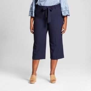 Ava & Viv Wide Leg Crop Pants Plus New